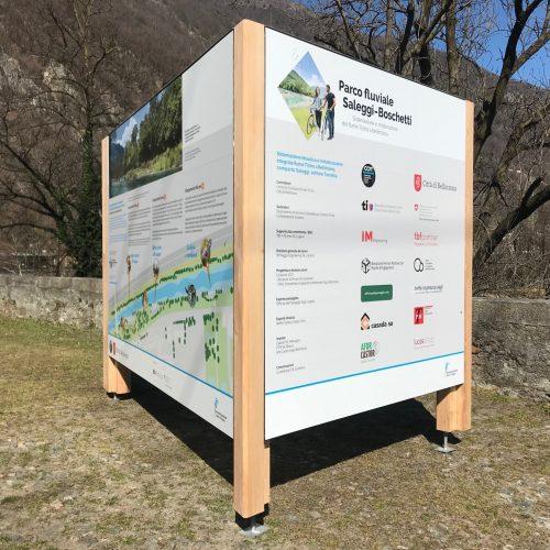 Cartelli parco fluviale Bellinzona